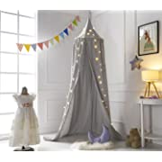 A LOVE BRAND 94.5×19.6 Inch Bed Canopy Cotton Mosquito Net for Kids,Grey