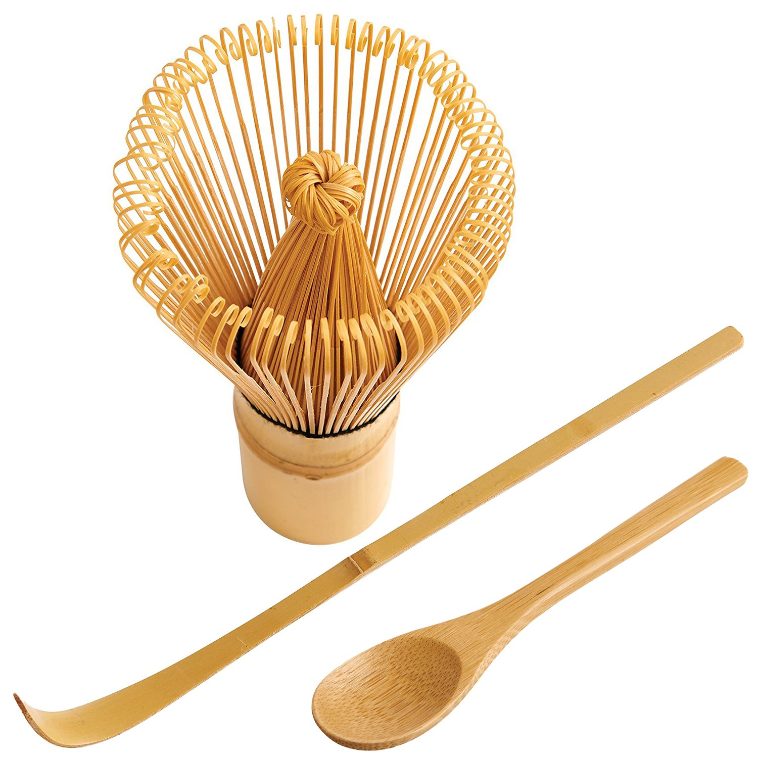 Matcha Whisk Sets - Hand-Made Natural Bamboo Tea Whisk Set Matcha Chasen with Tea Spoon, Traditional Scoop (Chashaku) kitchen-tea