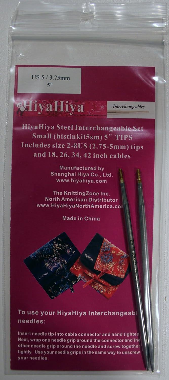 Hiya-Hiya 5 Inch Stainless Steel Interchangeable Knitting Needle Tip 4337007838