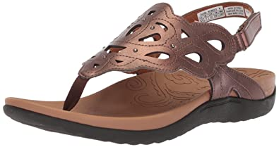 Rockport Women's Ridge Sling Sandal, Antique Bronze, ...
