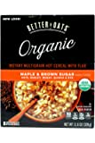 Better Oats Raw Pure & Simple Organic Maple & Brown Sugar Instant Multigrain Hot Cereal with Flax 11.6 OZ (8 POUCHES)
