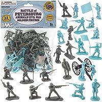 BMC Civil War Plastic Army Men - 32pc Battle of Petersburg Soldier Figures