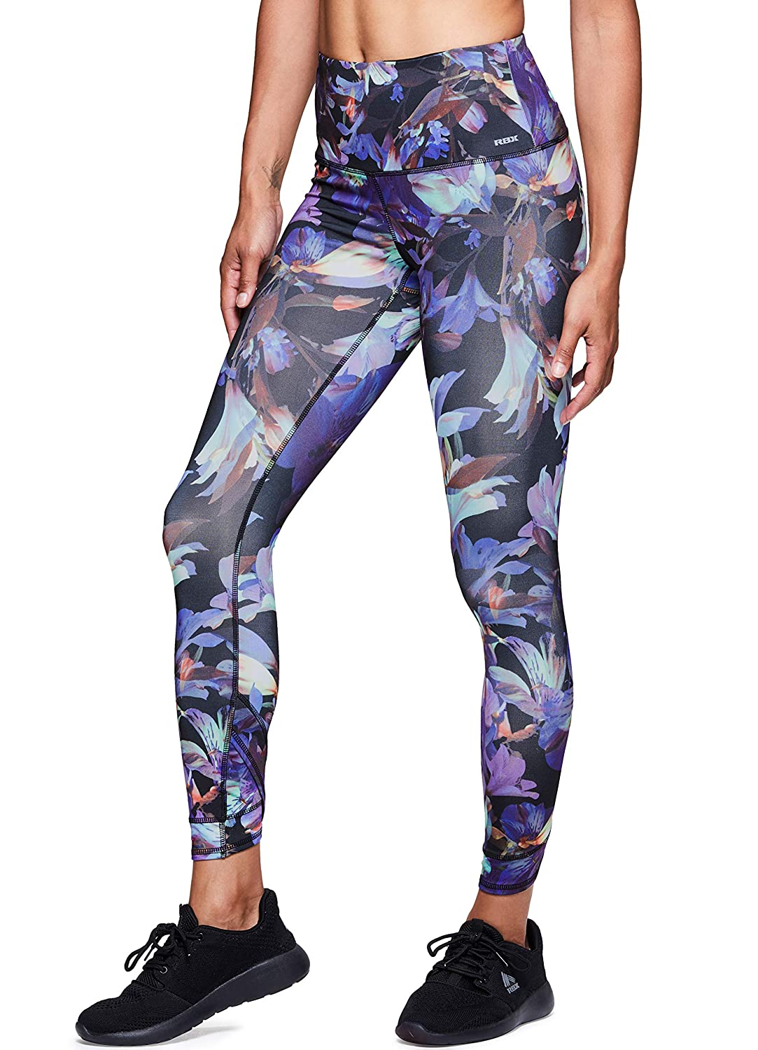 Tulip Purple RBX Active Women's Workout Yoga 7 8 Ankle Legging with Side Detail