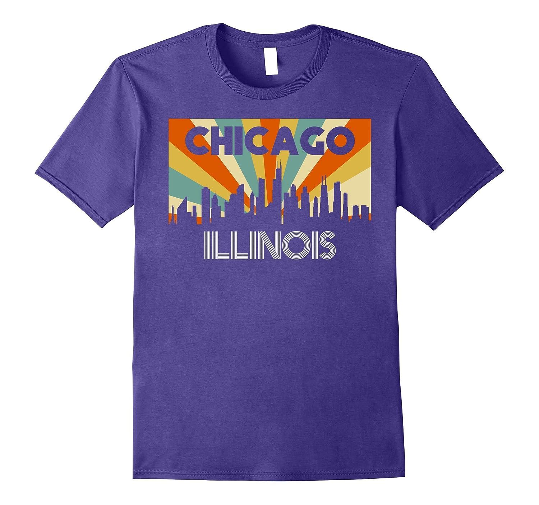 Chicago City T-Shirt, Illinois IL 1970s Disco Retro Vintage-FL