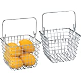 mDesign laredocameobaskets, Pack of 2 - Chrome