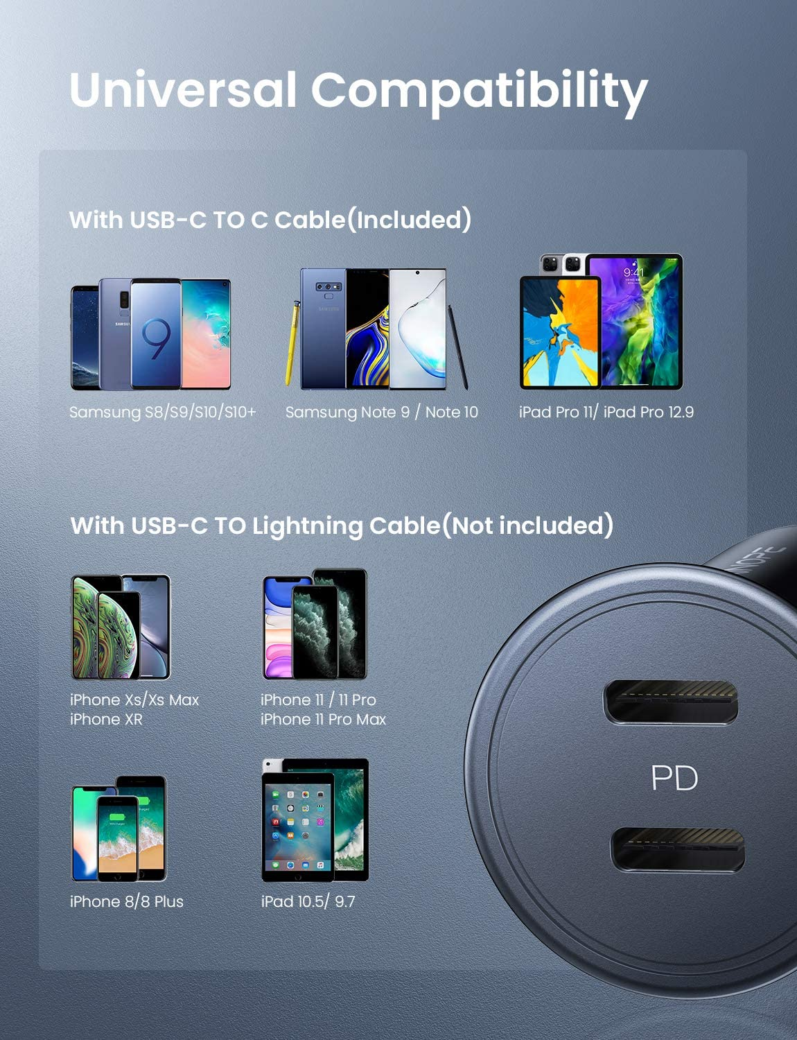 iPad USB C Car Charger Pixel 3//XL 36W Dual PD 3.0 Port All Metal AINOPE Mini Fast Car Charger Compact Type C Car Adapter with Type C Cord Compatible with iPhone 11//11 Pro//XR//Xs//Max Galaxy S10//S9