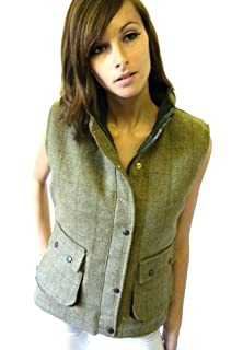 1bf3e005466fd Campbell Cooper New Ladies Green Tweed Fitted Waistcoat Sports Riding Gilet  Bodywarmer