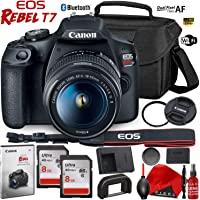 Canon EOS Rebel T7 DSLR Camera with 18-55mm Lens - 24.1 MegaPixel - HD Video - Wi-Fi - Bundle
