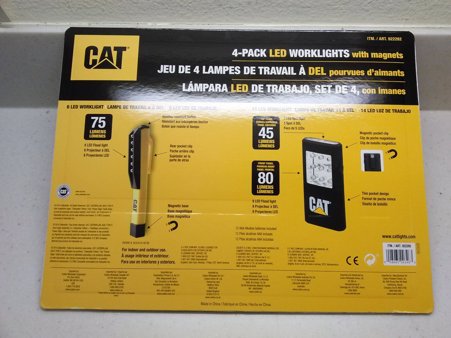 Cat 4 pack led worklights with magnets and includes 12 duracell cat 4 pack led worklights with magnets and includes 12 duracell aaa alkaline batteries by caterpillar amazon parisarafo Gallery