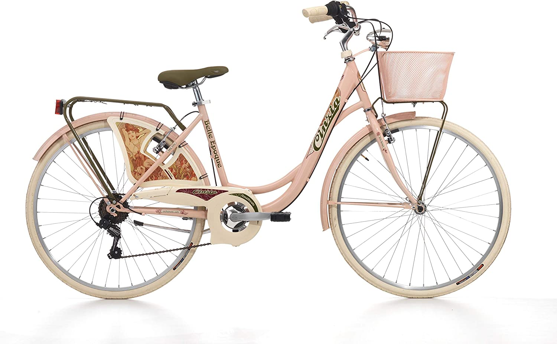 Bicicleta Cinzia Belle Epoque para mujer, cuadro de acero, 6 ...