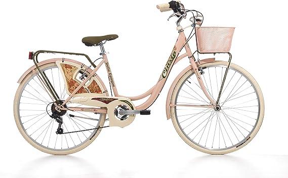 Bicicleta Cinzia Belle Epoque para mujer, cuadro de acero, 6 velocidades, 26 pulgadas, talla 44, Powder Pink: Amazon.es: Deportes y aire libre
