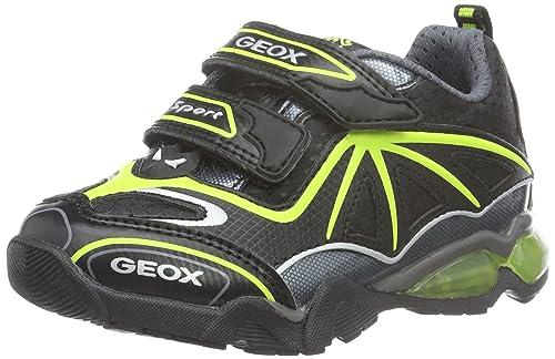 Geox Light Eclipse A - Zapatillas para niños, color red/dark grey, talla 24