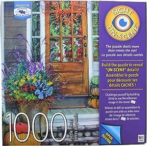MB Sight Un-Scene - Autumn Porch by David Ames - 1000 Piece Jigsaw Puzzle
