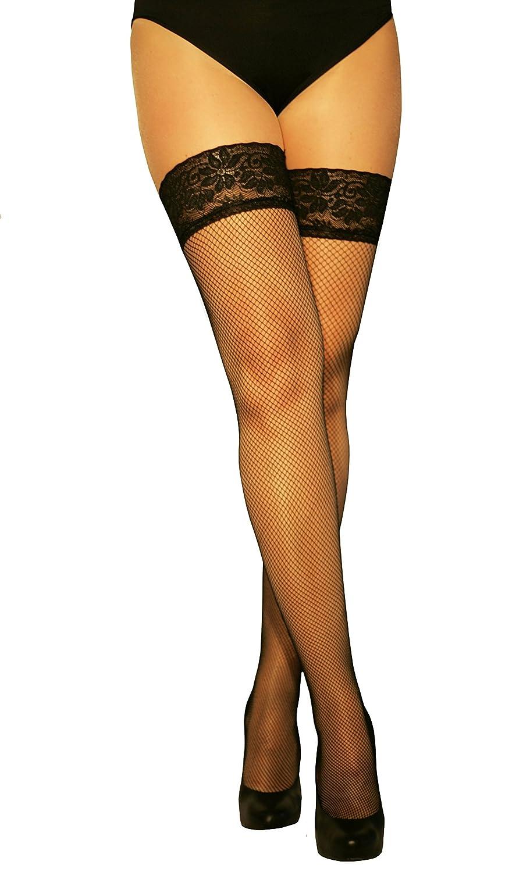 Marylin con nastro di pizzo aderente in silicone calze autoreggenti in rete 56 buchi 20/denari