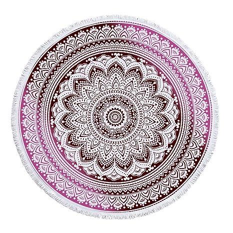Amazon.com: Round Beach Towel Sunscreen Bohemian Circle ...
