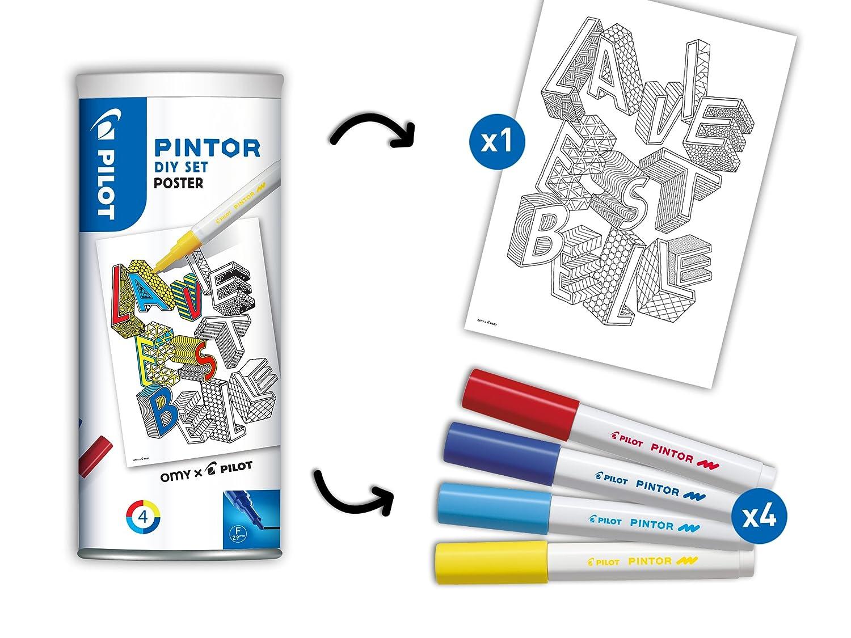 Pilot PINTOR 6er Set FUN Kreativmarker Fein Farblich sortiert