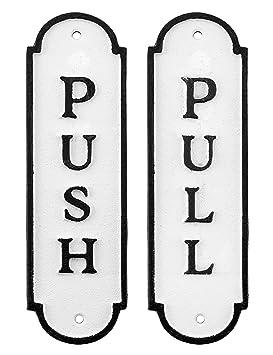Amazon.com: AuldHome - Juego de 2 letreros de puerta de ...