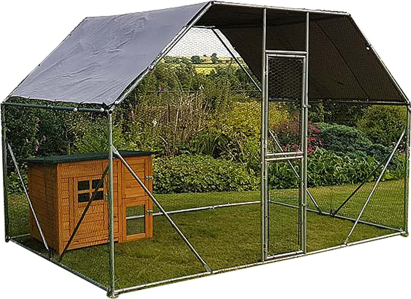 2m x 3m Walk in Dog Kennel Pen Run Plein air Exercice Cage - Cage 04 FR FeelGoodUK