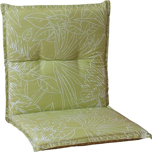 Almohada Cojines para sillas de jardín respaldo bajo de color verde claro con las hojas gire la almohada: Amazon.es: Hogar