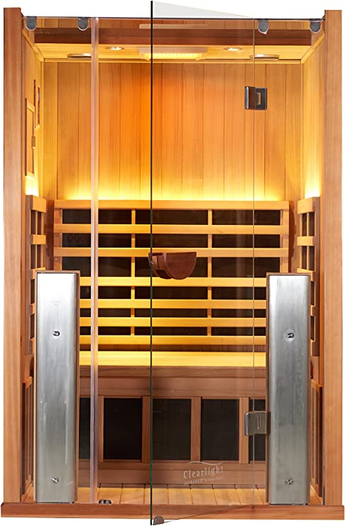 Infrared Sauna - Clearlight Far Infrared Sauna for Home - 2 Person Heated Detox Therapy - Full Spectrum Light - Low EMF - Lifetime Guarantee: Amazon.es: Jardín