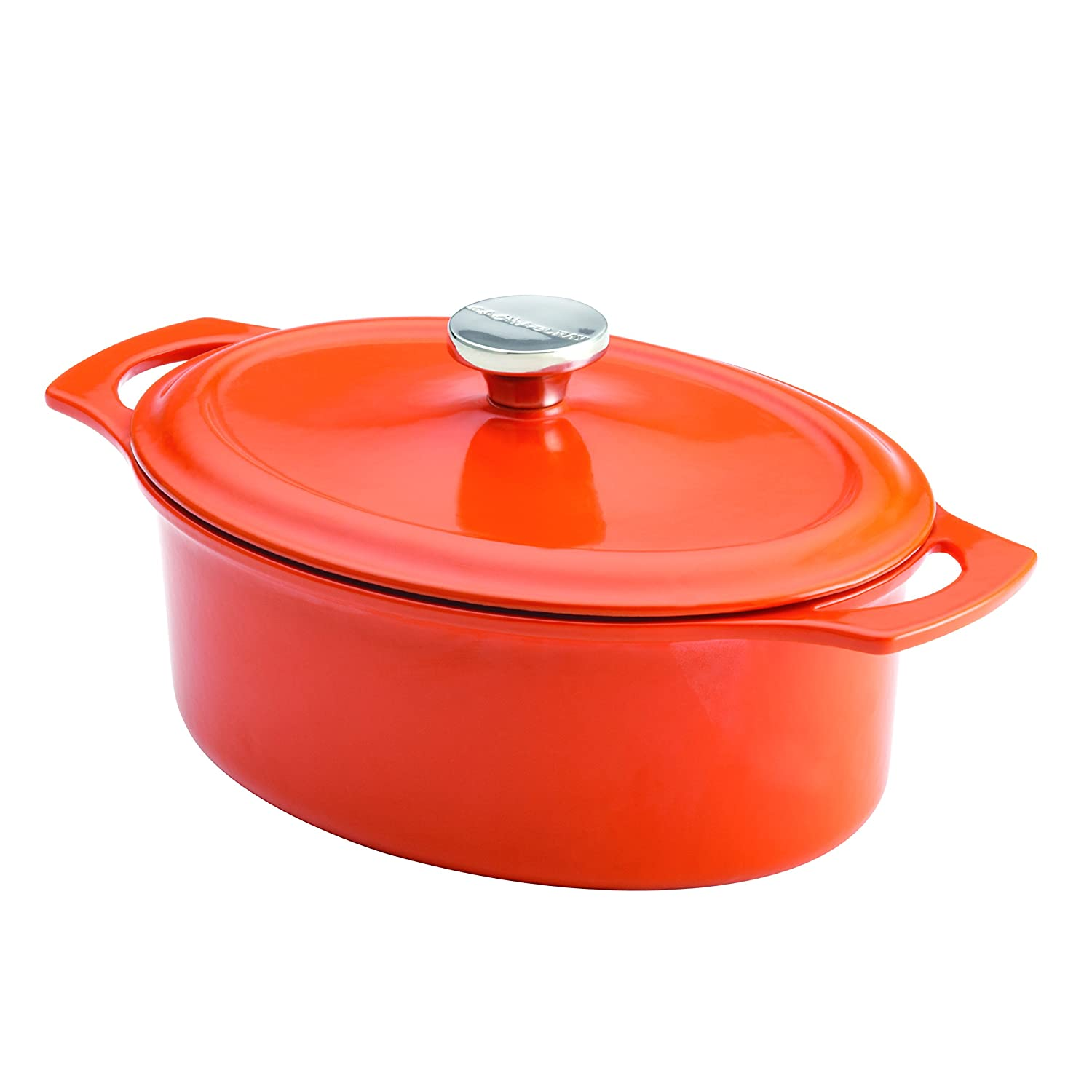Rachael Ray 59162 Rachael Ray Cast Iron, 3.5-Quart Covered Oval Casserole, Orange B00992A2N0