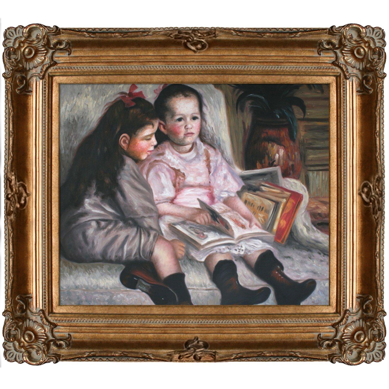 overstockArt Portrait of Children by Renoir with Renaissance Bronze Frame