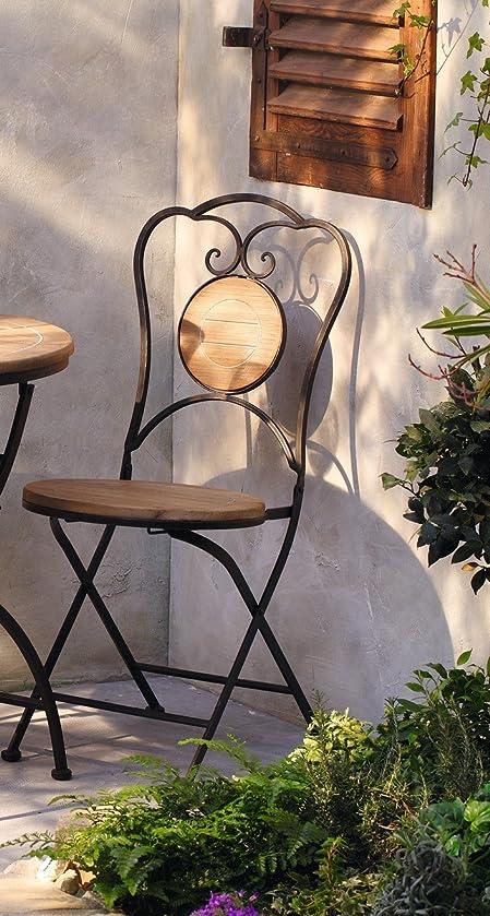 Gartenmöbel U0026quot;Rusticu0026quot; Als Set Oder Einzeln Gartenstuhl Gartentisch Eisen  Holz Ausgefallen (Stuhl