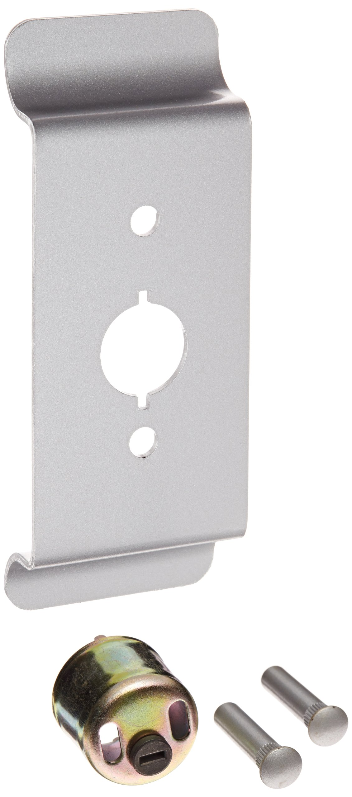 Stanley Commercial Hardware Stainless Steel Gull Wing Escutcheon Pull Standard Duty Exit Trim from the QET300 Collection, Rim Cylinder Type, Painted Aluminum Finish by Stanley Commercial Hardware