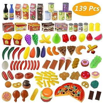 Estela Juguete de Cocina Juego de Comida 139 Piezas Utensilios de ...