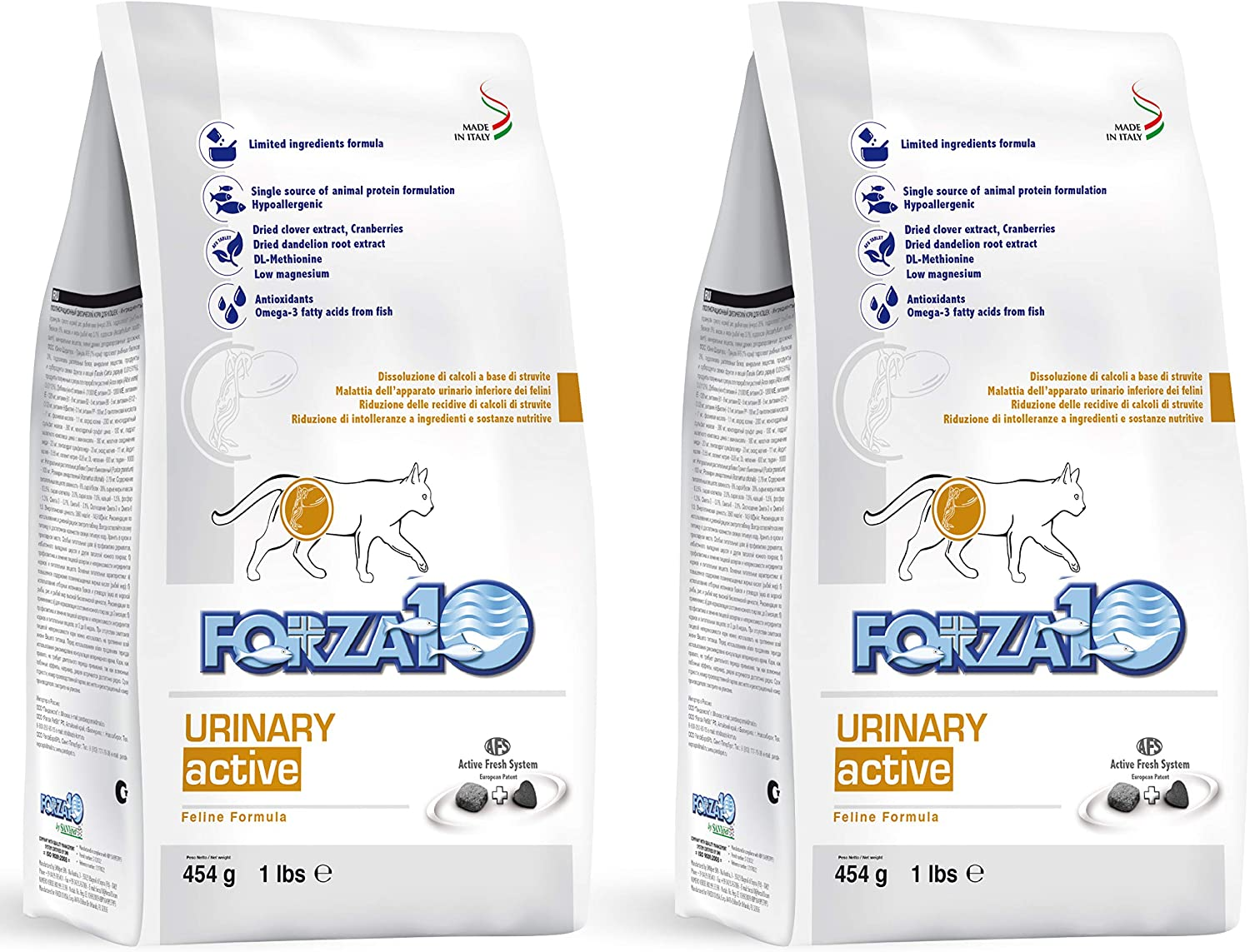 Forza10 Active Urinary Dry Cat Food, Urinary Tract Health Cat Food Dry Kibble Vet Approved Omega 3 Gluten Free, Anchovy, Adult Cats (2 Pounds)