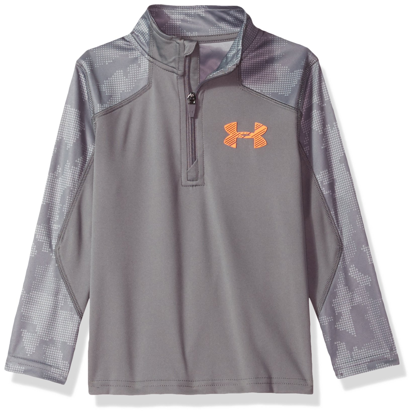 Under Armour Boys' Utility Camo 1/4 Zip, Graphite, 2T by Under Armour
