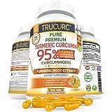 Trucurc Turmeric Curcumin Supplement with 95% Standardized Pure Tumeric Curcumin and Bioperine Black Pepper for Max…