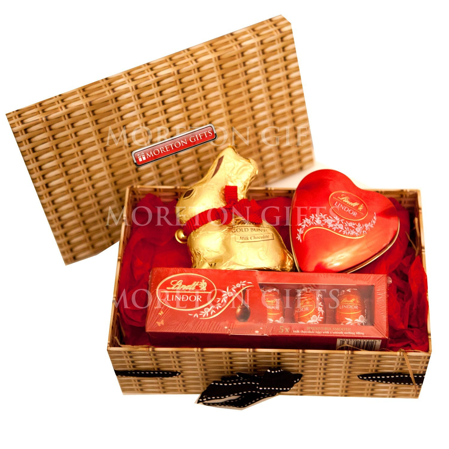 Lindt love easter chocolate hamper box gold bunny lindt heart lindt love easter chocolate hamper box gold bunny lindt heart tin lindor eggs gift box romantic easter gift by moreton gifts amazon grocery negle Choice Image