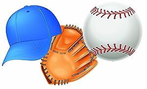 Eureka Baseball Paper Cut Outs, 36 Count