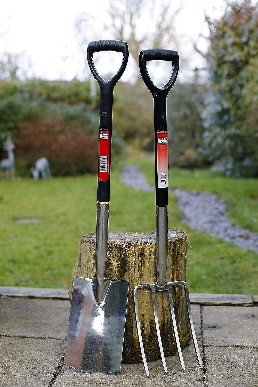NEILSEN Premium Quality Stainless Steel Garden Spade & Fork