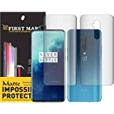 First MART Screen Protector Oneplus 7T Pro - (Front & Back) High Definition Ultra Thin Matte Unbreakable Nano Guard Film (Not Glass) Designed for Oneplus 7T Pro Edge to Edge Screen Guard