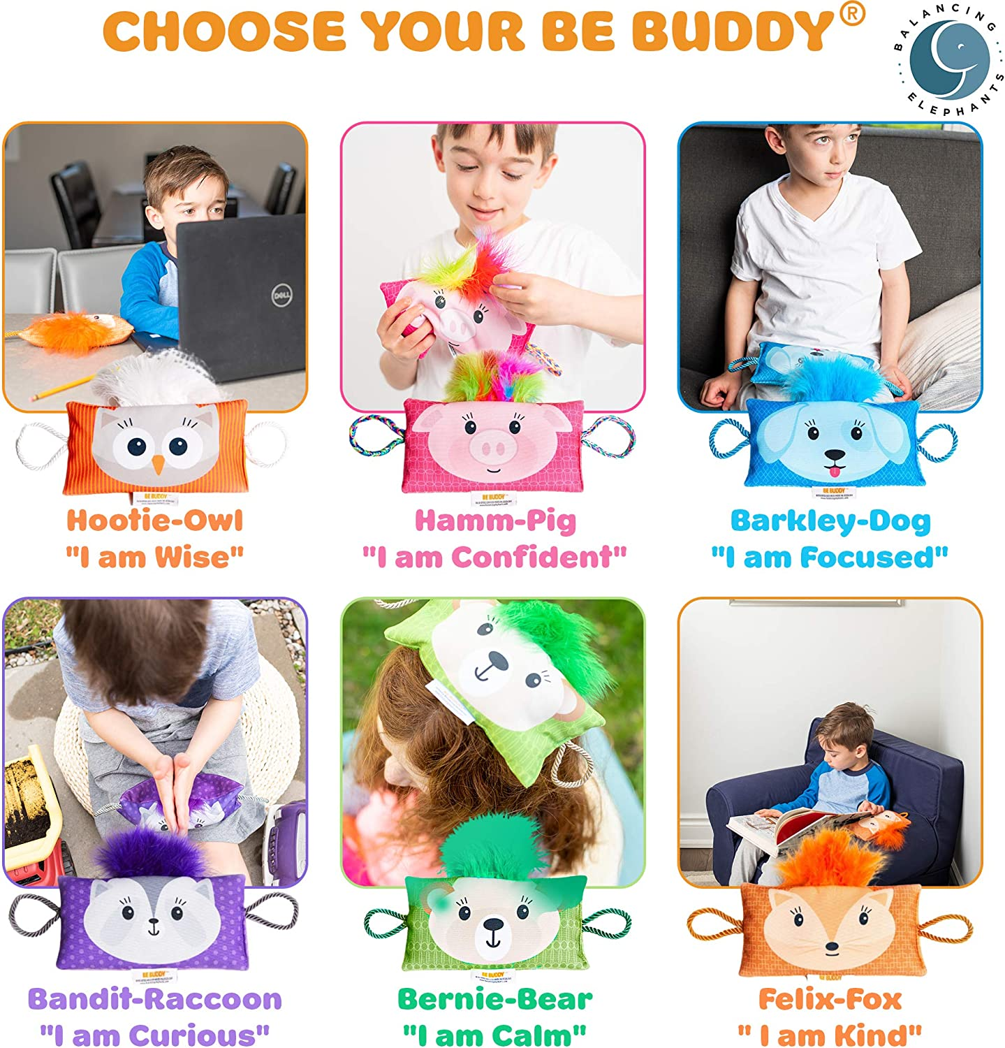 BE Buddy®: Weighted Stuffed Animals Kids Toys