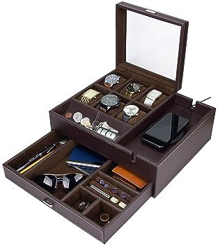 Amazon.com: HOUNDSBAY Commander - Caja para relojes y joyero ...