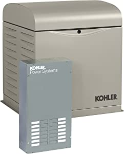 KOHLER Generators 12RESVL100 Amp Standby Indoor Generator, 12-Space with Load Center Automatic Transfer Switch, 12000-watt