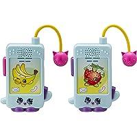 eKids Shopkins Character Walkie Talkies para niños Static Free Extended Range