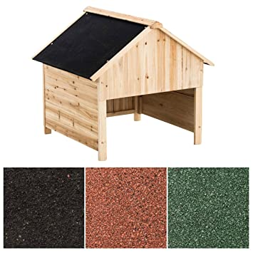 CLP Caseta de Madera para Jardín I Garaje de Madera para Robot Cortacésped I Caseta de Exterior Resistente a los Rayos UV I Mueble de Jardín Color: Negro: ...
