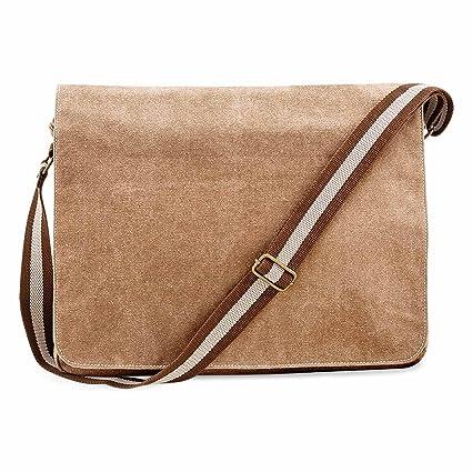 QUADRA - sac bandoulière en toile - vintage - QD610 mixte homme - femme (Noir) YkMiAQLbp