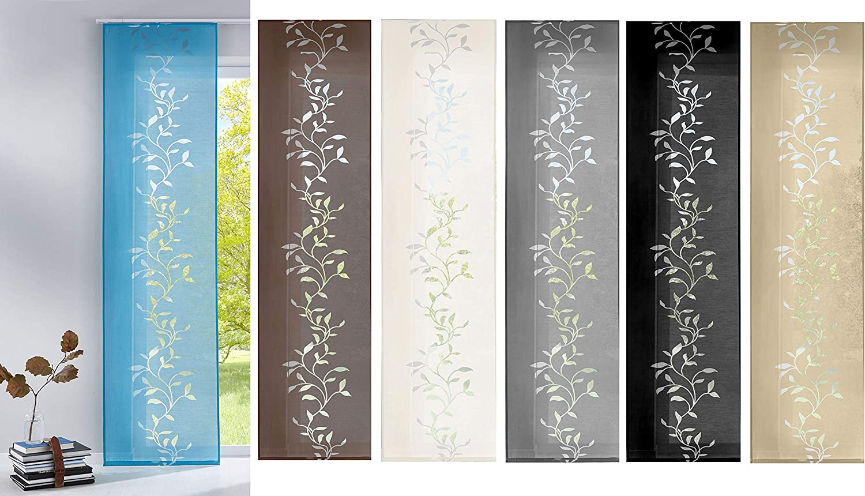 Gardinenbox Tendril Rideau Moderne avec Panneau 100 /% Polyester Cr/ème 245 x 60 cm