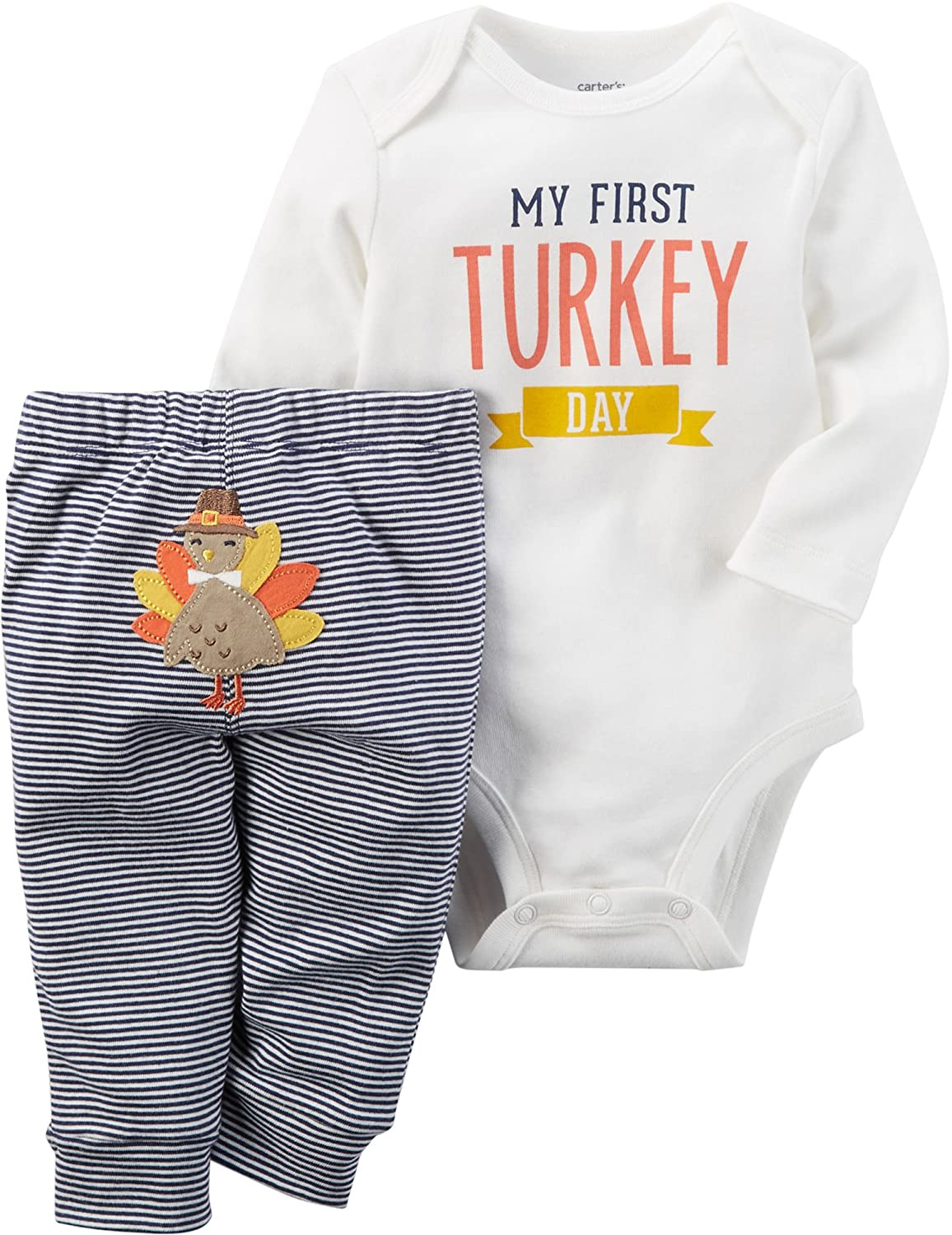 Carter's Baby My First Turkey 2-Piece Bodysuit Pants Set