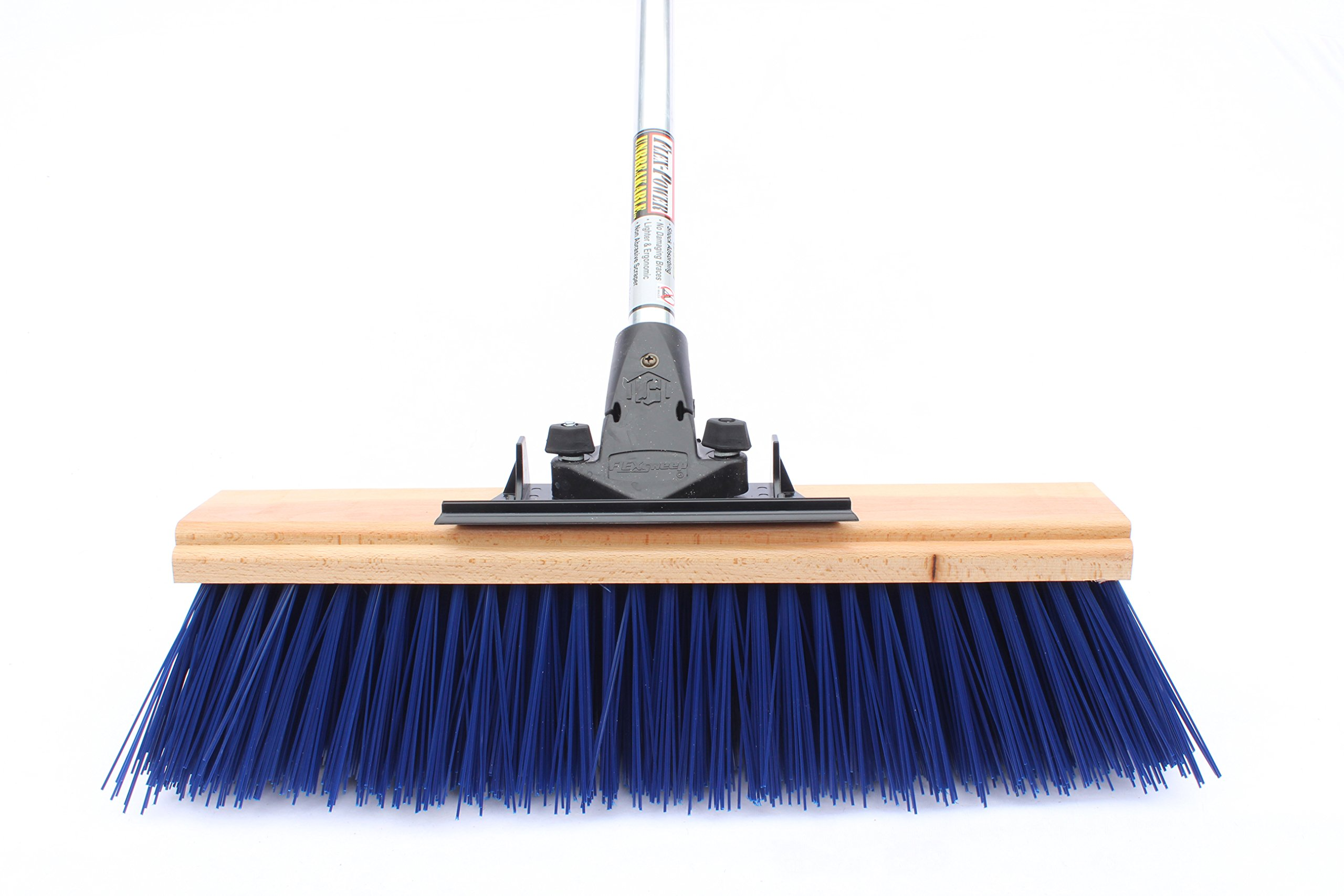 FlexSweep Unbreakable Commercial Push Broom 18'' Extra Coarse STREET SWEEPER by FlexSweep