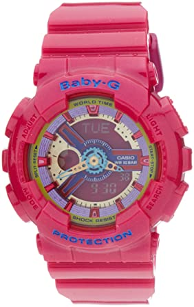 f671343acc9a Image Unavailable. Image not available for. Color  Casio Baby-G BA112-4A 3D  Dial Analog Digital Watch