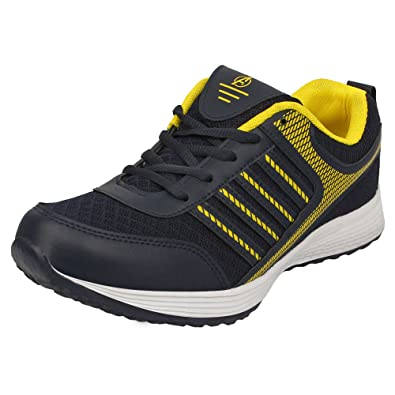 Aero Aspire Men corriendo Sport Zapatos (Azul En Amarillo): Comprar En (Azul línea at 47a9c9