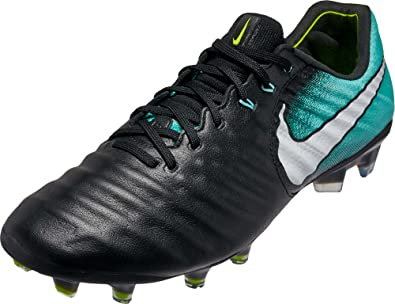 Nike Womens Tiempo Legend VII FG Cleats - (Black White Aqua) ( 0059721f6