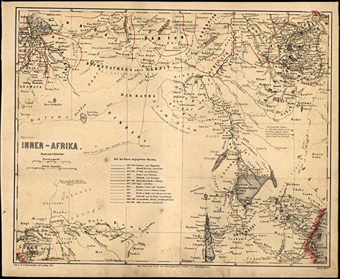 Map Of Africa Lake Victoria.Amazon Com Africa Lake Victoria Uganda Kenya Rwanda Burundi