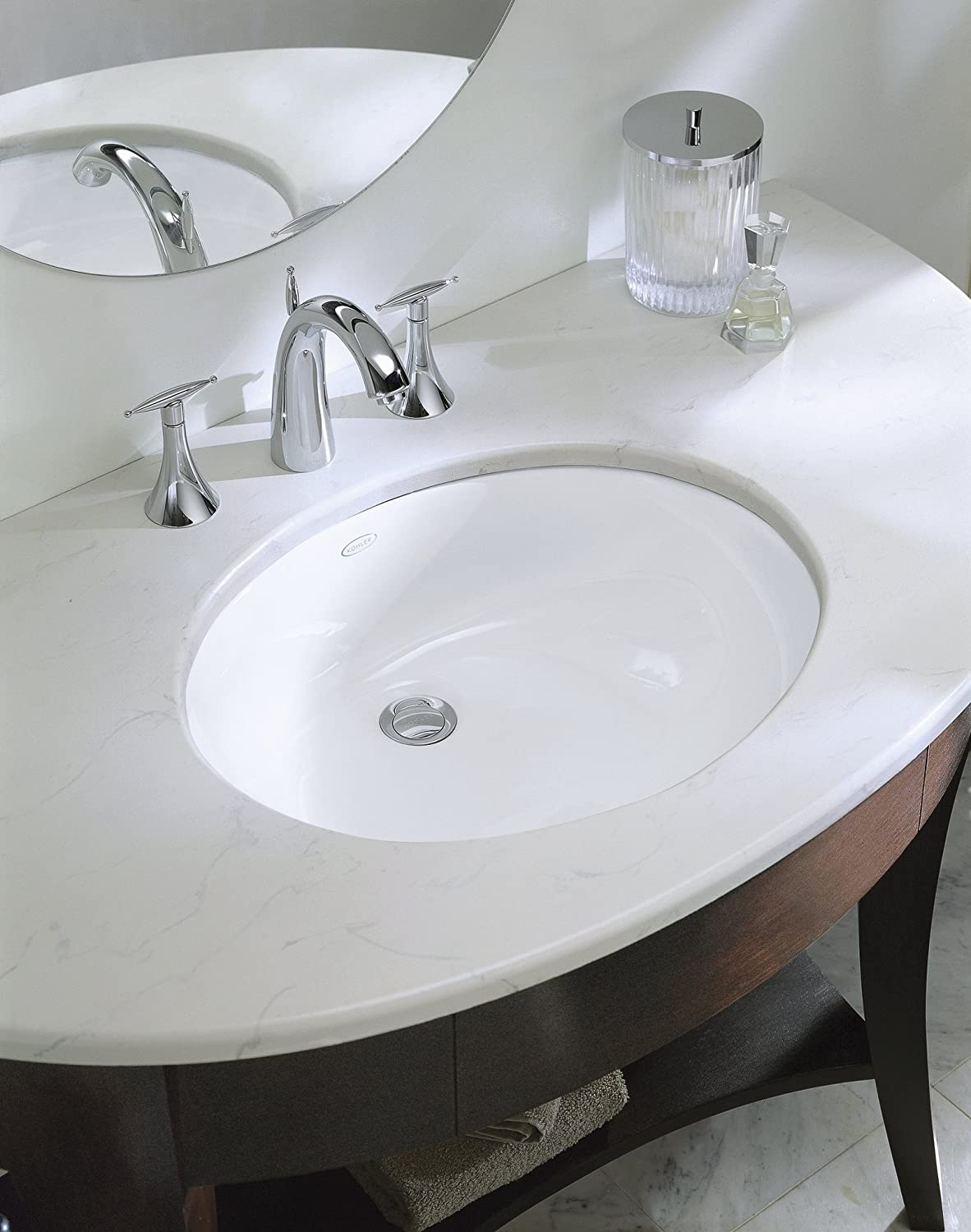 KOHLER K-2210-0 Caxton Undercounter Bathroom Sink, White - Vessel ...